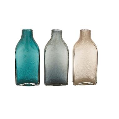 Woodland Imports Lovely Glass Bottle Vase (Set of 3)