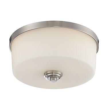 Z-Lite Lamina 3-Light Flush Mount; Brushed Nickel