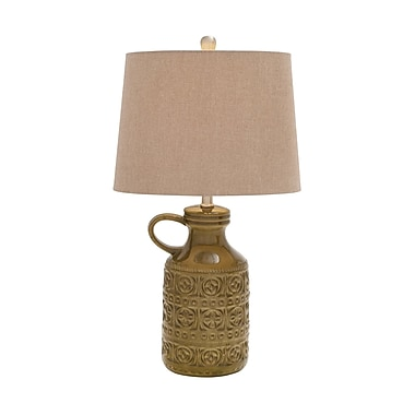 Woodland Imports Wonderful Styled 25'' H Table Lamp with Empire Shade