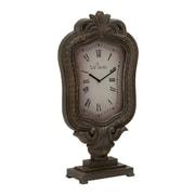 Woodland Imports Customary Elegant Styled Wood Table Clock