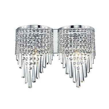 Z-Lite Tango (868CH-2V) 2 Light Crystal Vanity Light, 4.5