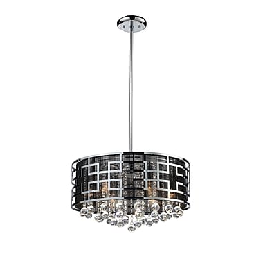 Z-Lite Mirach (839CH) 6 Light Crystal Chandelier, 19