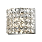 "Z-Lite Panache (867-1S) 1 Light Crystal Vanity Light, 3.54"" x 6.3"" x 5.12"", Chrome"