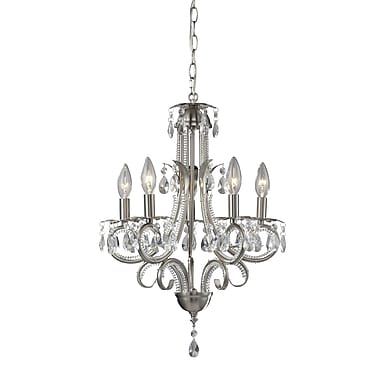Z-Lite Pearl (849BN) 5 Light Chandelier, 14.96