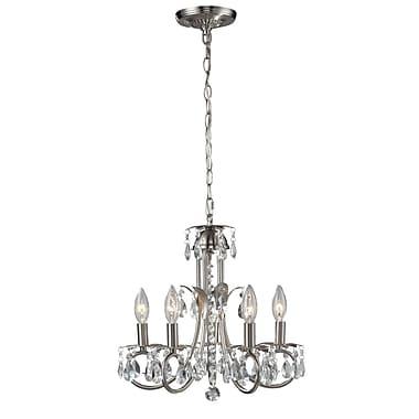 Z-Lite – Lustre Pearl (852BN) à 5 lampes, 15 x 15 po, nickel brossé