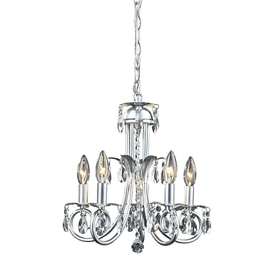 Z-Lite Pearl (852S) 5 Light Crystal Chandelier, 15