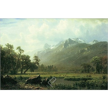 The Sierras Near Lake Tahoe de Bierstadt, toile, 24 x 36 po