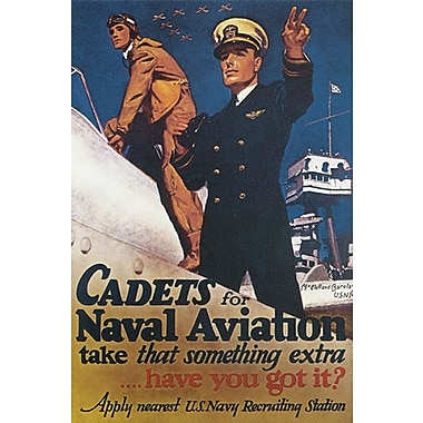 Cadets for Naval Aviation de McClelland, toile, 24 x 36 po