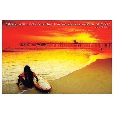 « Wondrous Works of God », affiche, 36 x 24 po