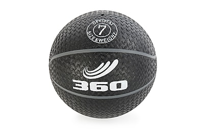 360 Athletics Rubber Grippy Basketball Size 7, Black