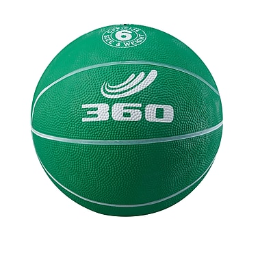 360 Athletics Rubber Playground Basketball, Green/White