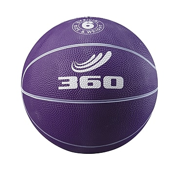 360 Athletics Rubber Playground Basketball, Purple/White
