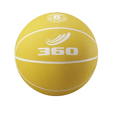 360 Athletics Rubber Playground Basketball, Yellow/White