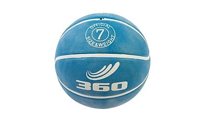 360 Athletics Rubber Playground Series Rubber Basketballs Size 7, Blue