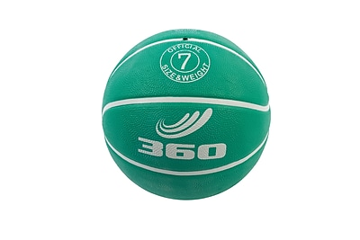 360 Athletics Rubber Playground Series Rubber Basketballs Size 7, Green