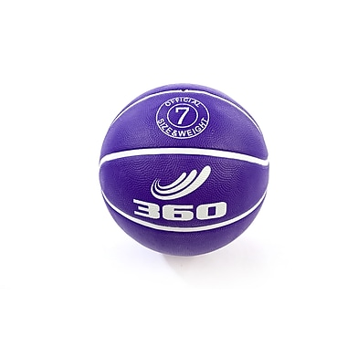 360 Athletics Rubber Playground Series Rubber Basketballs Size 7, Purple