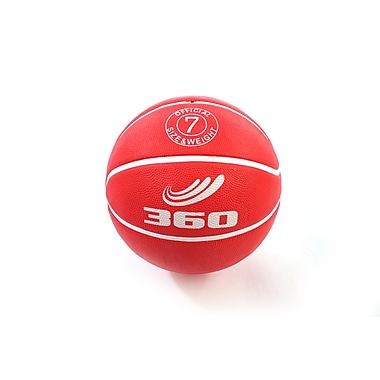 360 Athletics Rubber Playground Series Rubber Basketballs Size 7, Red