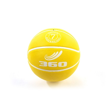 360 Athletics Rubber Playground Series Rubber Basketballs Size 7, Yellow