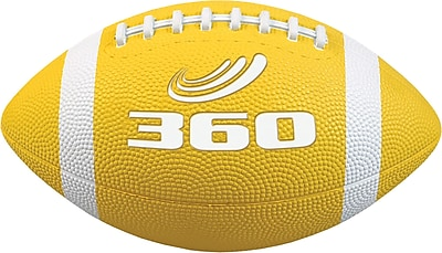 360 Athletics Rubber Footballs Size 7, Yellow