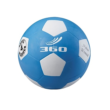 360 Athletics Rubber Playground Soccer Ball, 4 Blue