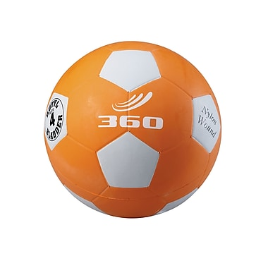 360 Athletics Rubber Playground Soccer Ball, 4 Orange