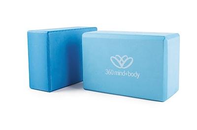 360 Mind & Body Foam Yoga Bricks, 3