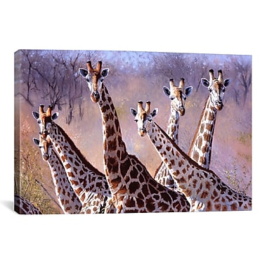 iCanvas Giraffes by Pip McGarry Painting Print on Canvas; 40'' H x 60'' W x 1.5'' D
