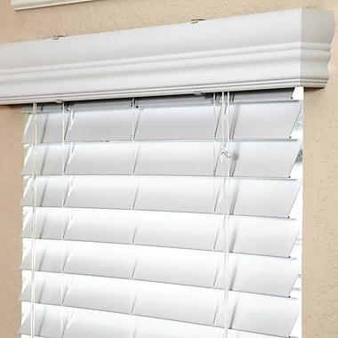 Fauxwood Impressions Room Darkening White Venetian Blind; 59.75'' W x 54'' L