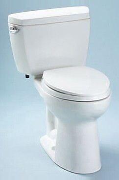 Toto Drake 1.6 GPF Elongated Two-Piece Toilet; Cotton