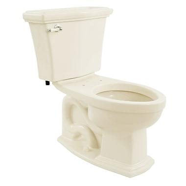Toto Clayton Eco 1.28 GPF Elongated Two-Piece Toilet; Sedona Beige