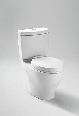 Toto Aquia Dual Flush Elongated Two-Piece Toilet; Ebony