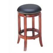 Wildon Home   24'' Swivel Bar Stool; Cherry