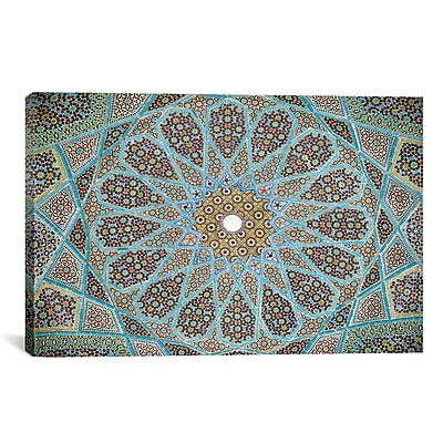 iCanvas Islamic 'Tomb of Hafez Mosaic' Graphic Art on Canvas; 8'' H x 12'' W x 0.75'' D