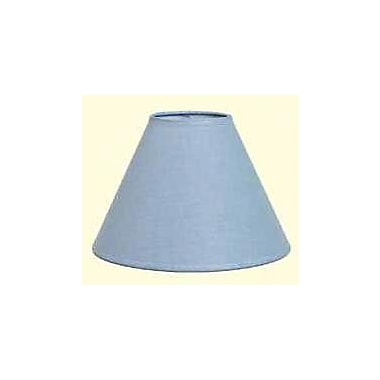 Deran Lamp Shades Hardback 14'' Linen Empire Lamp Shade; Federal Blue