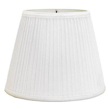 Deran Lamp Shades Mushroom Pleat 12'' Linen Bell Lamp Shade; White