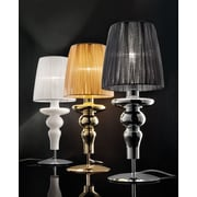 Evi Style Gadora Chic 19.7'' Table Lamp; White