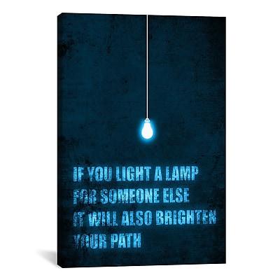 iCanvas 'Light a Lamp' by Budi Satria Kwan Textual Art on Canvas; 26'' H x 18'' W x 1.5'' D