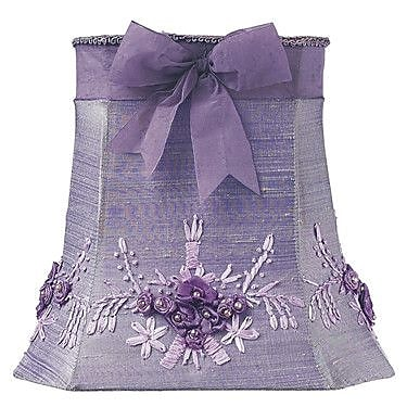 Jubilee Collection Floral Bouquet 10'' Silk Empire Lamp Shade; Lavender