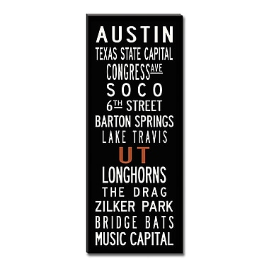 Uptown Artworks Austin by Uptown Artworks Framed Textual Art on Wrapped Canvas; 24x60