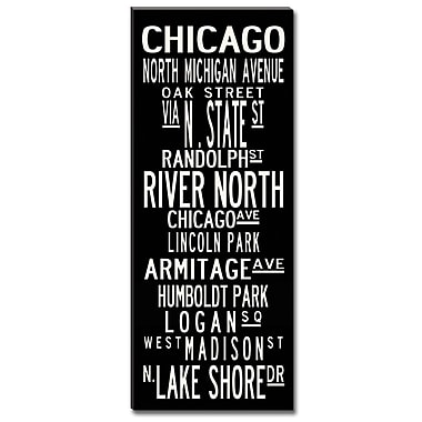Uptown Artworks Chicago by Uptown Artworks Framed Textual Art on Wrapped Canvas; 18x45