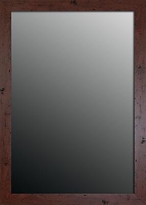 Second Look Mirrors New England Walnut Framed Wall Mirror; 43.75''H x 33.75''W x 0.75''D