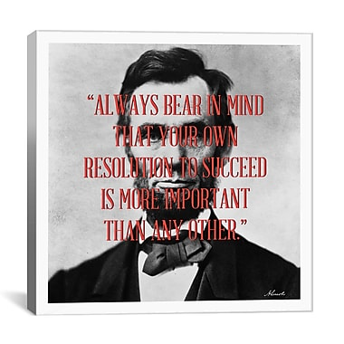 iCanvas Abraham Lincoln Quote Graphic Art on Canvas; 26'' H x 26'' W x 1.5'' D