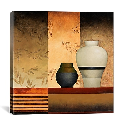 iCanvas 'A Big and a Small Vases' by Pablo Esteban Graphic Art on Canvas; 26'' H x 26'' W x 1.5'' D