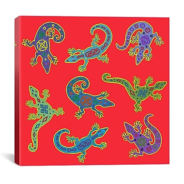 iCanvas '8 Lizards' by Willow Bascom Graphic Art on Canvas; 12'' H x 12'' W x 1.5'' D
