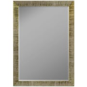 Second Look Mirrors Textured Silver Ribbed Wall Mirror; 40.25''H x 28.25''W x 0.75''D