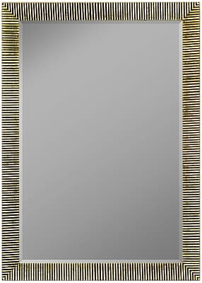 Second Look Mirrors Textured Silver Ribbed Wall Mirror; 35.25''H x 25.25''W x 0.75''D