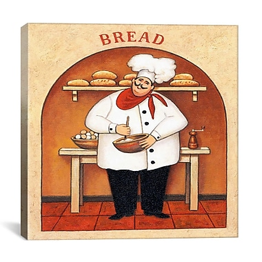 iCanvas 'Bread' by John Zaccheo Vintage Advertisement on Canvas; 18'' H x 18'' W x 0.75'' D