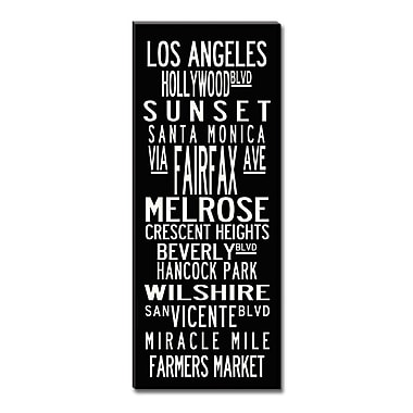 Uptown Artworks Los Angeles Coastline by Uptown Artworks Framed Textual Art on Wrapped Canvas; 18x45
