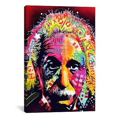 iCanvas 'Einstein II' by Dean Russo Graphic Art on Canvas; 61'' H x 41'' W x 1.5'' D