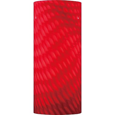 Volume Lighting 4.75'' Glass Drum Wall Sconce Shade; Red
